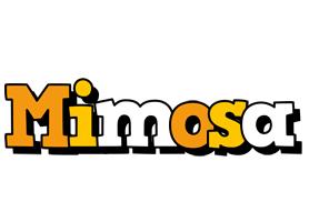Mimosa cartoon logo