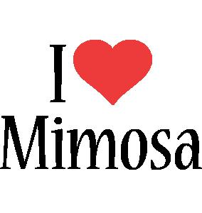Mimosa i-love logo