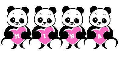 Mina love-panda logo