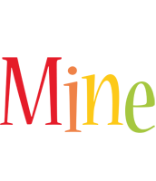Mine birthday logo