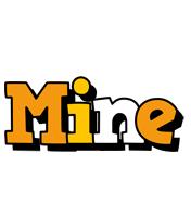 Mine cartoon logo
