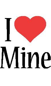 Mine i-love logo