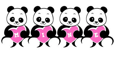 Mine love-panda logo
