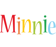Minnie birthday logo