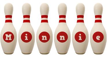 Minnie bowling-pin logo