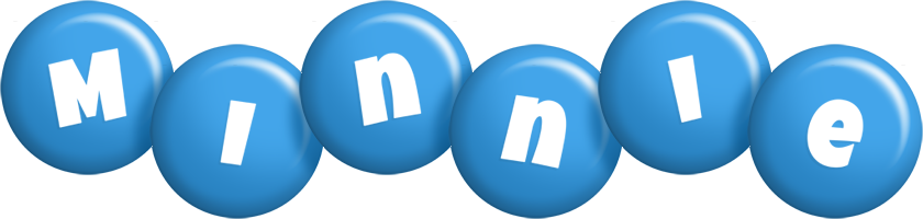 Minnie candy-blue logo