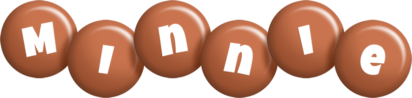 Minnie candy-brown logo