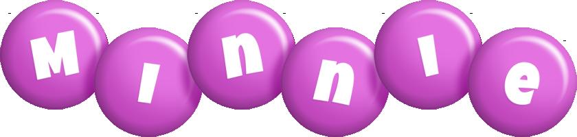 Minnie candy-purple logo