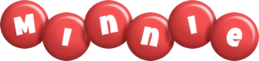 Minnie candy-red logo