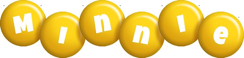 Minnie candy-yellow logo