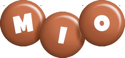 Mio candy-brown logo