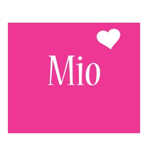 Mio love-heart logo