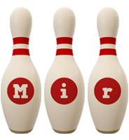 Mir bowling-pin logo