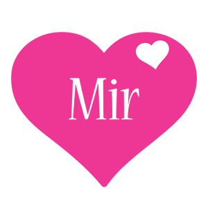 Mir love-heart logo