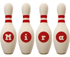 Mira bowling-pin logo