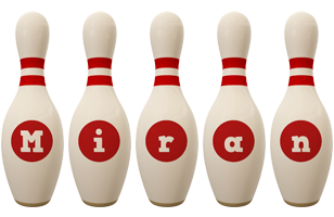 Miran bowling-pin logo