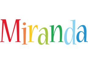 Miranda birthday logo