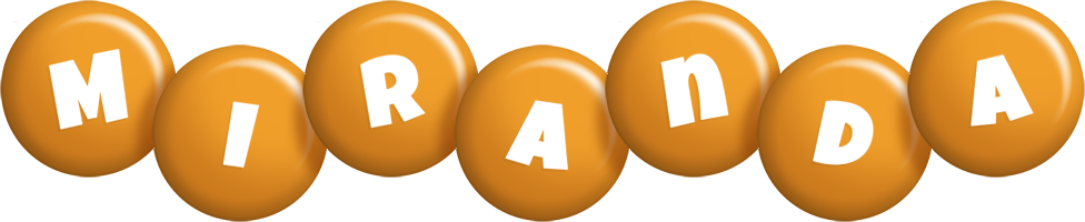 Miranda candy-orange logo