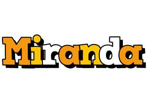 Miranda cartoon logo