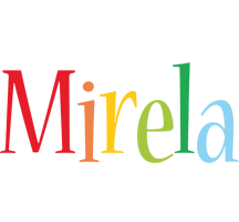 Mirela birthday logo