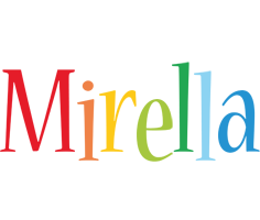 Mirella birthday logo