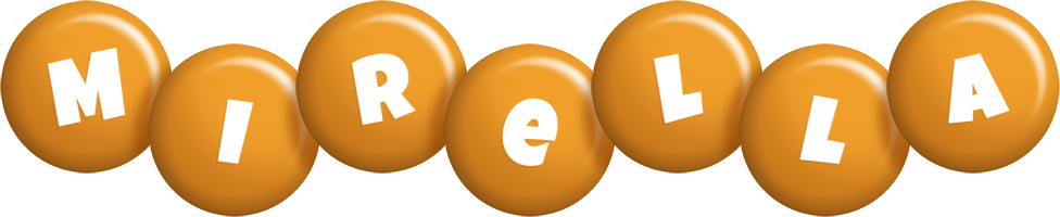 Mirella candy-orange logo