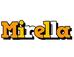 Mirella cartoon logo