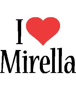 Mirella i-love logo