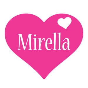 Mirella love-heart logo