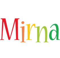 Mirna birthday logo