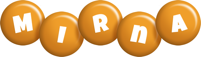 Mirna candy-orange logo