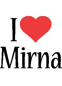 Mirna i-love logo
