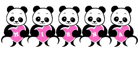 Mirna love-panda logo