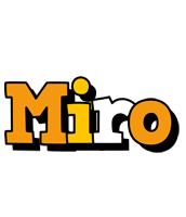 Miro cartoon logo