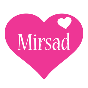 Mirsad love-heart logo