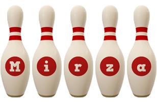 Mirza bowling-pin logo