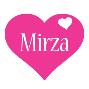 Mirza love-heart logo