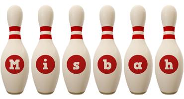 Misbah bowling-pin logo