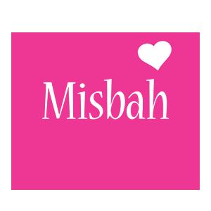 Misbah love-heart logo