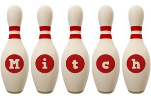 Mitch bowling-pin logo