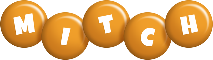 Mitch candy-orange logo