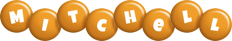 Mitchell candy-orange logo