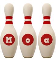 Moa bowling-pin logo