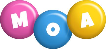 Moa candy logo