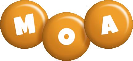 Moa candy-orange logo