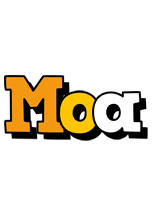 Moa cartoon logo