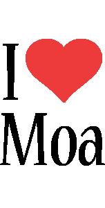 Moa i-love logo