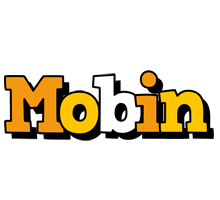 Mobin cartoon logo