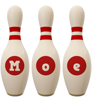 Moe bowling-pin logo