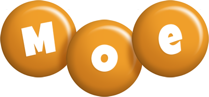 Moe candy-orange logo
